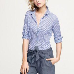 🔥🔥 J. Crew Button Down Blue Gingham Shirt XS